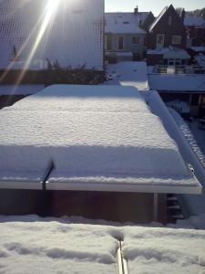 Sneeuwlast geen enkel probleem.